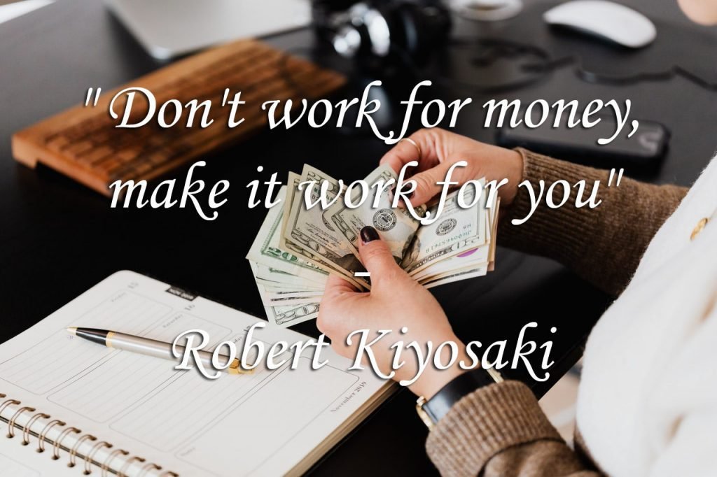 Boeken over personal finance - Robert Kiyosaki quote