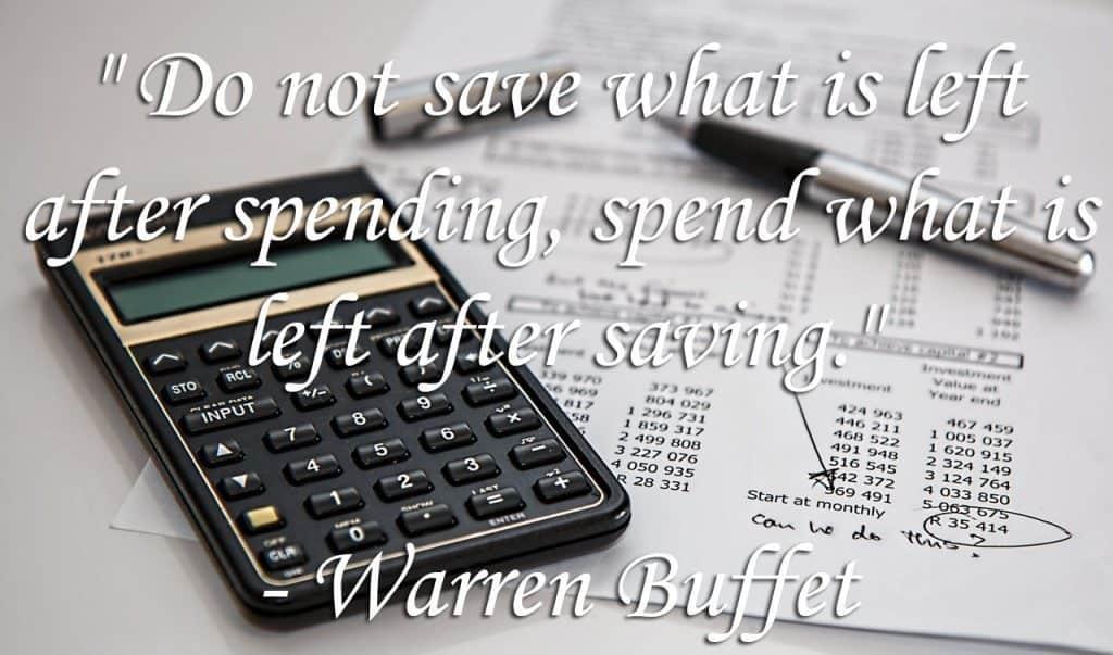 Boeken over personal finance - Warren Buffet quote