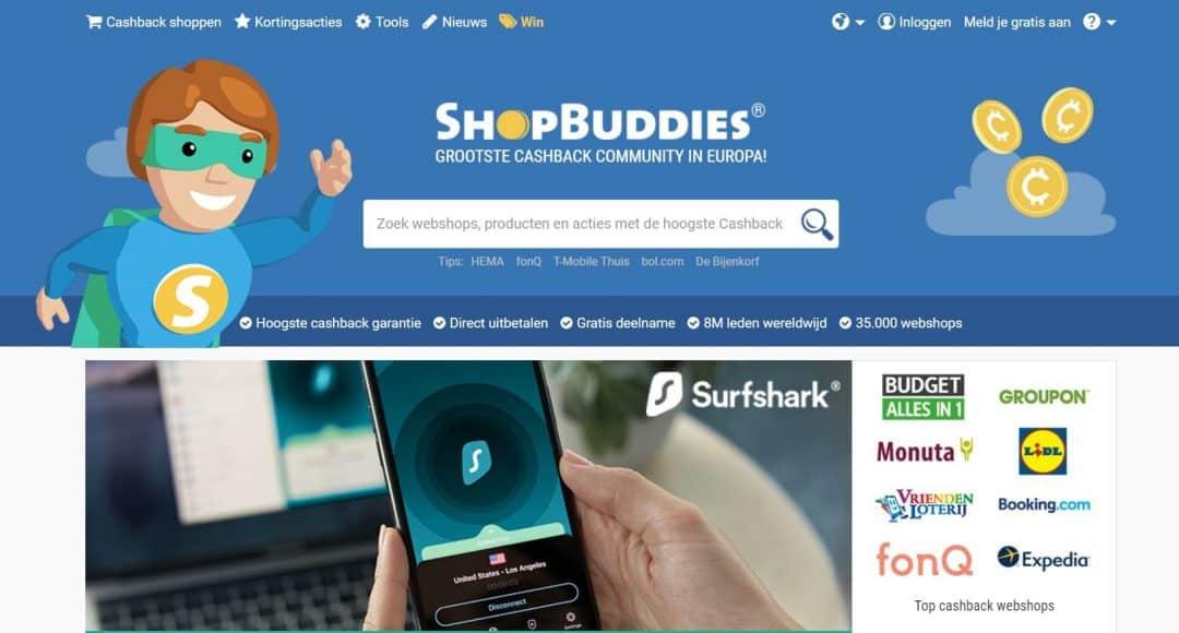 Cashback website Shopbuddies - dejongebelegger