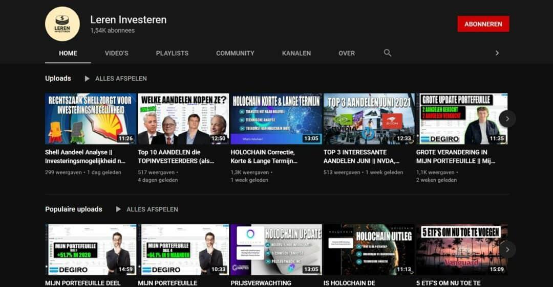 YouTube beleggen - Leren Investeren